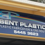 Bent Plastics Shed Sign