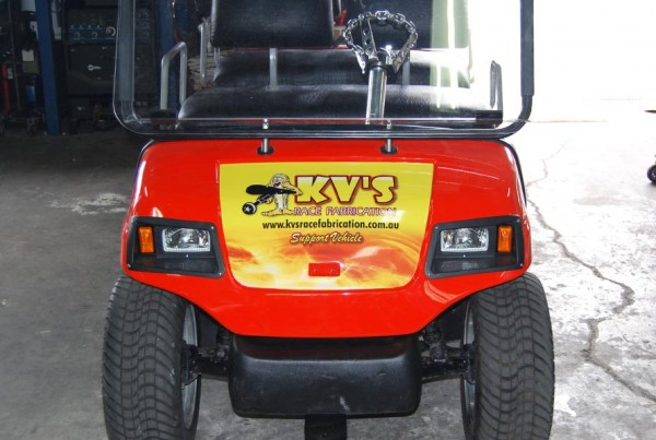 KVS Race Fabrication Golf Buggy Signage