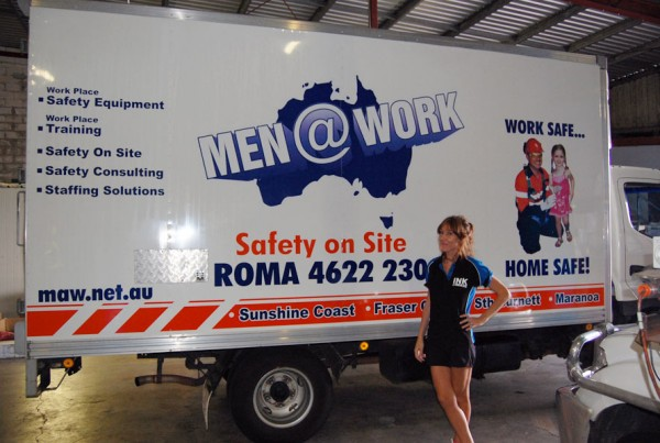 Men @ Work Truck Signs