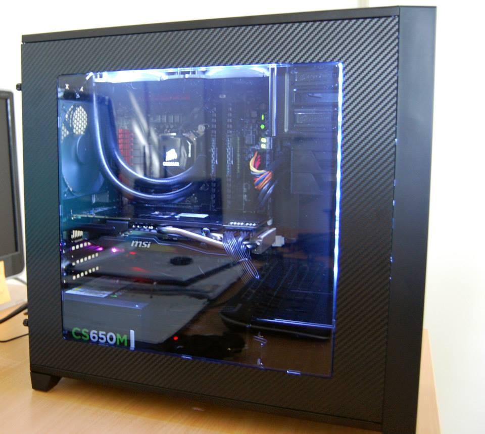 Custom Carbon Fibre MSI Dragon PC Case - Ink to Image