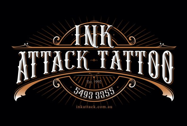 ink attack tattoo logo graphic design sunshine coast
