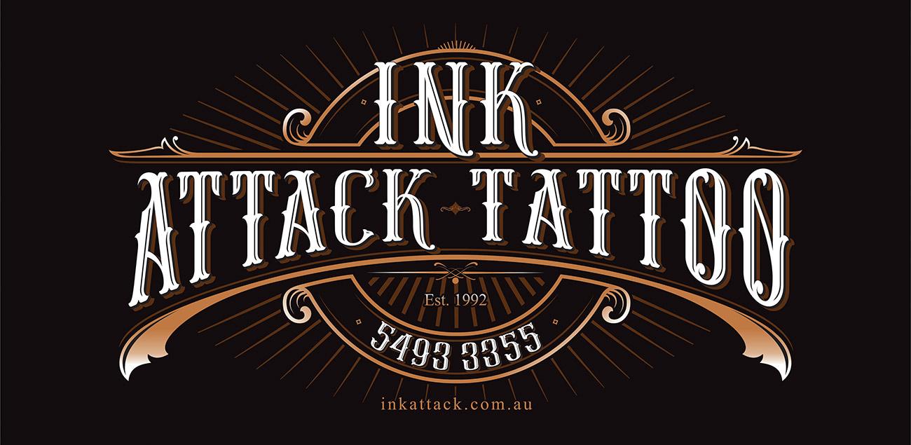 Ink-Atack-Tattoo-branding-graphic-design-kawana