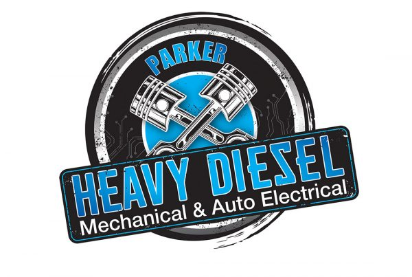 parker heavy diesel graphic design
