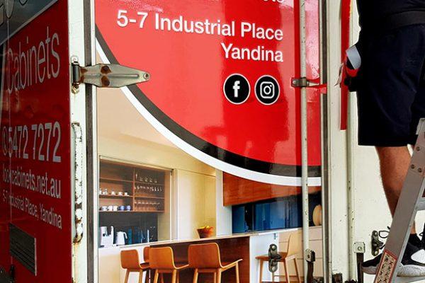 look cabinets truck wrap yandina