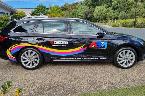 Austral Business Machines Car Signage