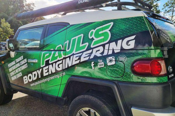 Paul's Body Engineering FJ Cruiser Signage